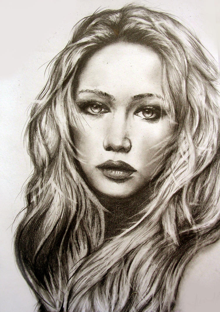 Jennifer Lawrence by PrehistoricGiraffe