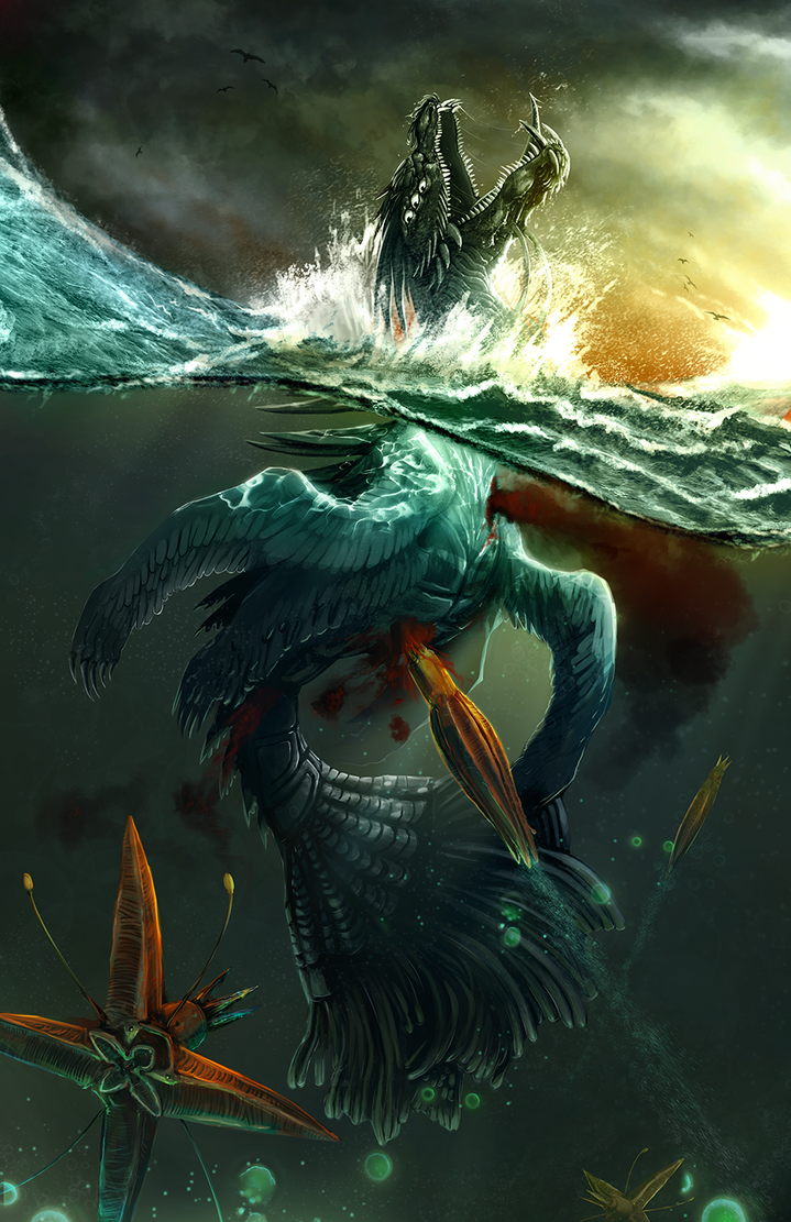 Sea Monsters by ErstwhileSky on DeviantArt