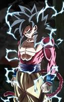The power of an Ozaru. Goku SSJ4 by Koku78