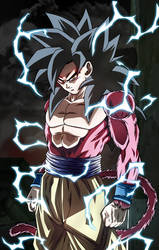The power of an Ozaru. Goku SSJ4