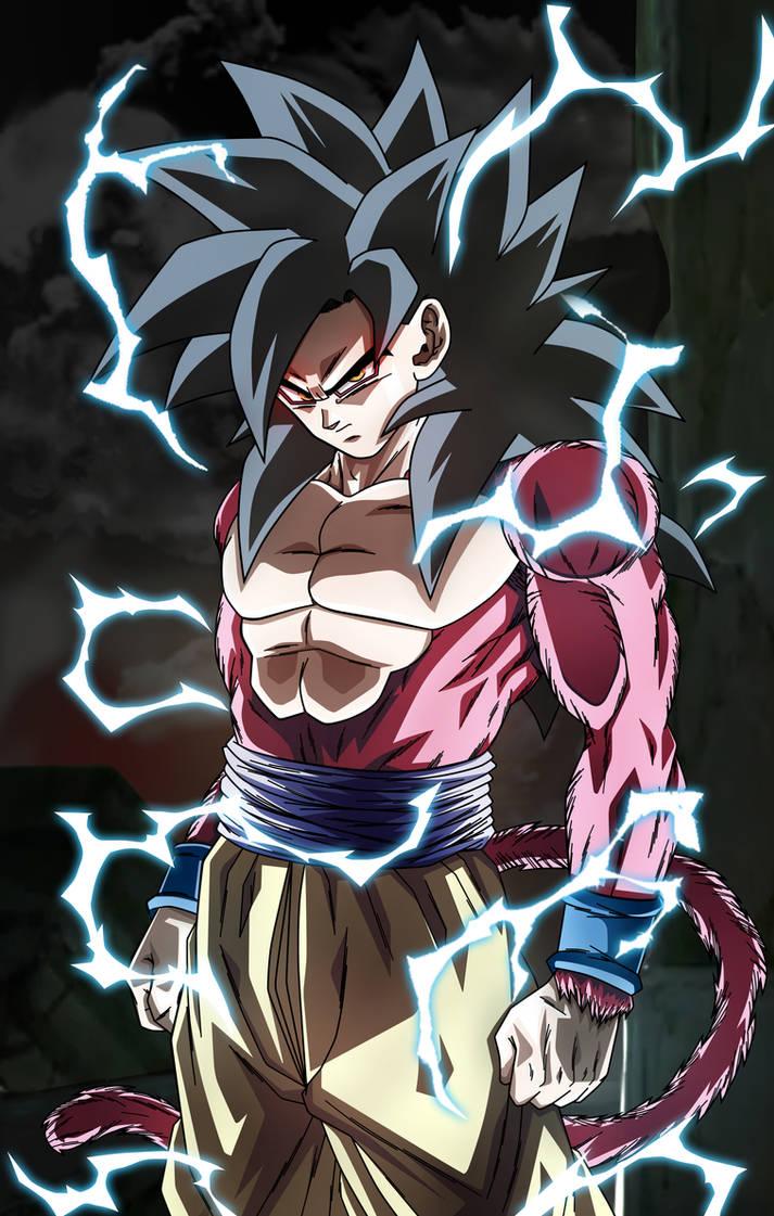 The power of an Ozaru. Goku SSJ4