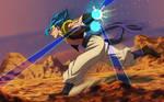 Warrior Born From Light. Gogeta