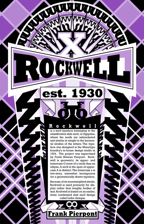 Rockwell Typeface by CJJennings