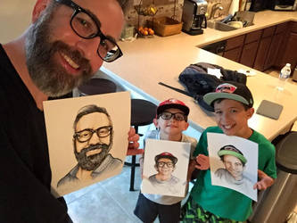 Nestel familia showing my illustrations of them by CJJennings