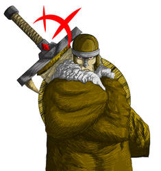 Viking with big sword