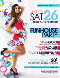 Funhouse Party Flyer Poster
