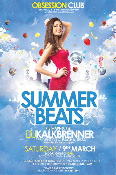 Summer Beats Flyer PSD Template by outlawv15 on DeviantArt