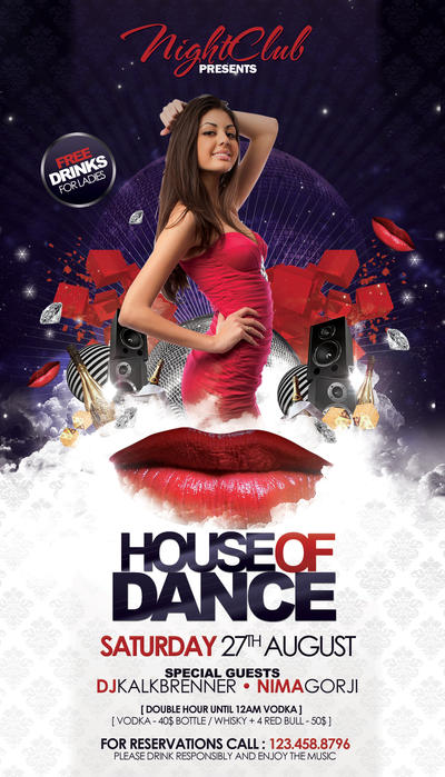 House of Dance Flyer by outlawv15 on DeviantArt