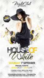 White Party Flyer by outlawv15