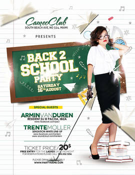 Back 2 School Party - with model space