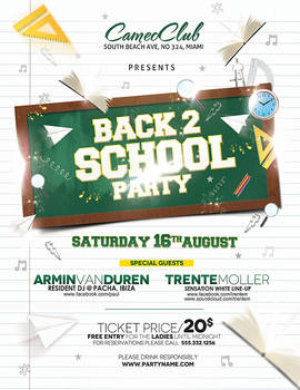Back 2 School Party - without model space