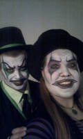Monster and SafetyPin the clowns