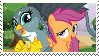 Scootaloo x Gabby stamp by Pexi2012