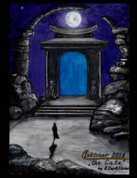 Inktober 2018 - Day 1 - 'The Gate' by Reynjel-Darkflame
