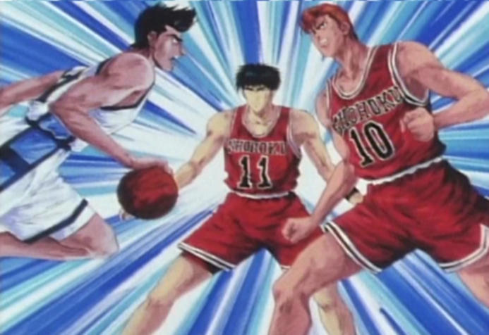 Slam Dunk Sendoh Vs Rukawa Sakuragi and Rukawa VS...