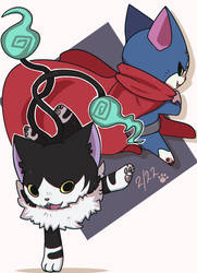 Yokai cats for cat's day by MetallicSeraph