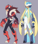 FenrirMan EXE and Aether EXE