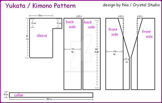 Yukata-Kimono Pattern
