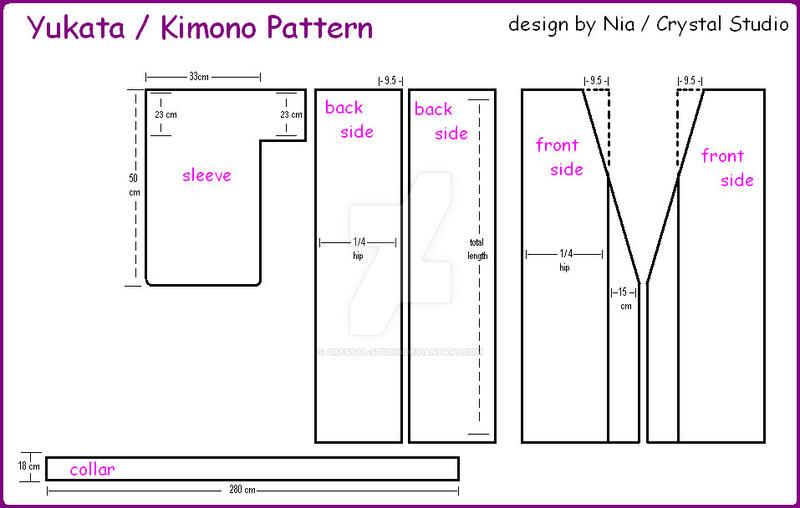 Yukata-Kimono Pattern by crystal-studio on DeviantArt