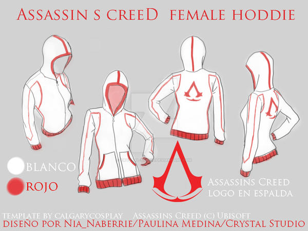 Assassins Creed Female Hoodie By Crystalstudio On DeviantArt Enchanting Assassin's Creed Hood Pattern