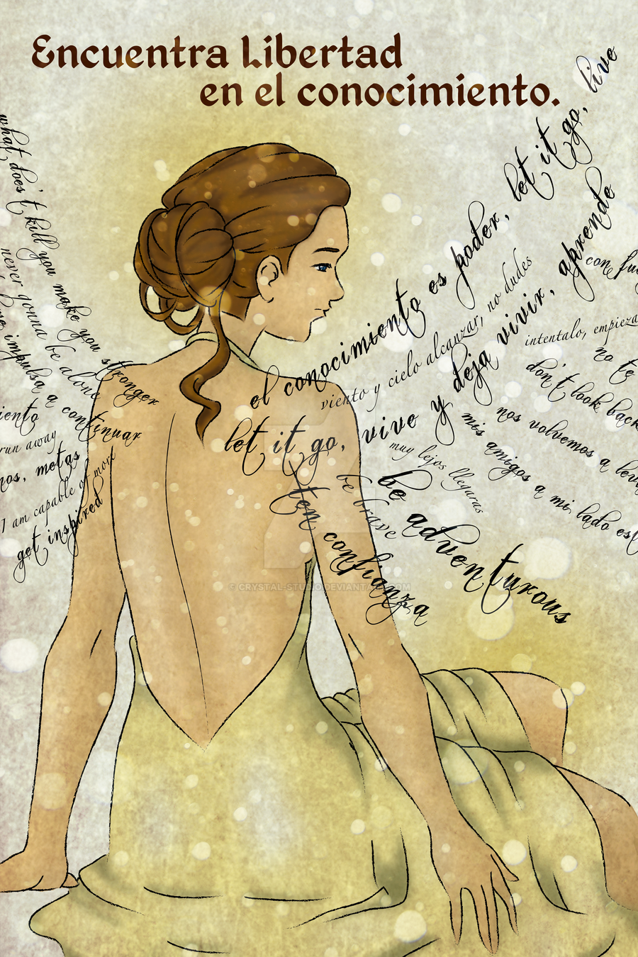 Wings made out of words by crystal studio on deviantart