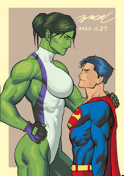 She-Hulk and Superman: Power Couple