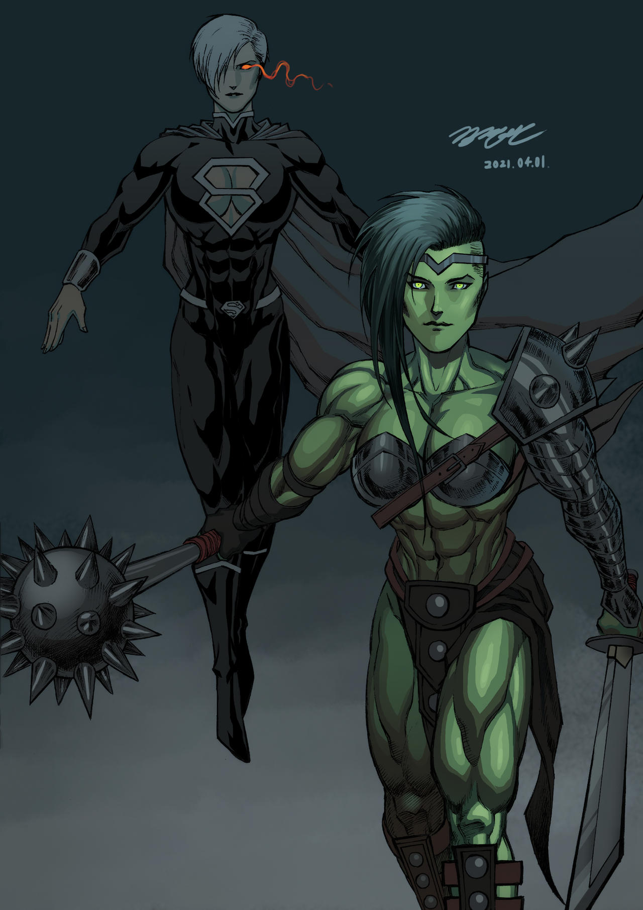 She-Hulk and Power Girl: Costume Change