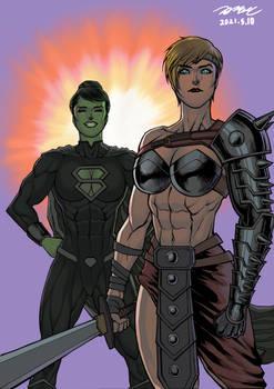 She-Hulk and Power Girl: Costume Switch