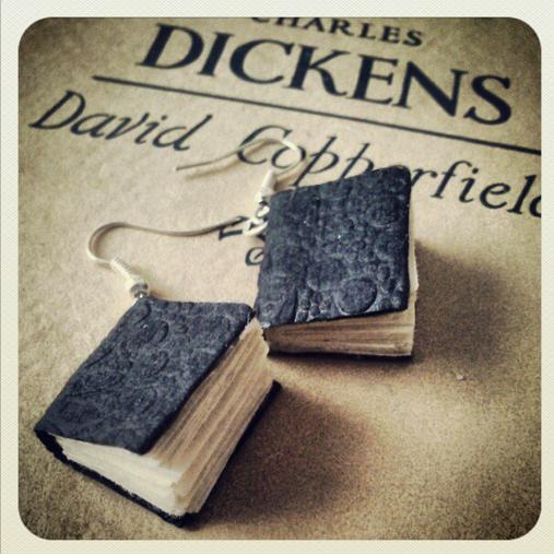Tiny books earrings by InkKiller