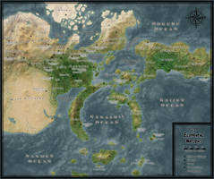 Elemental Nations Geographical Map