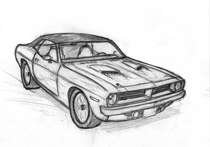 Muscle Car Sketch By Leovictor On Deviantart