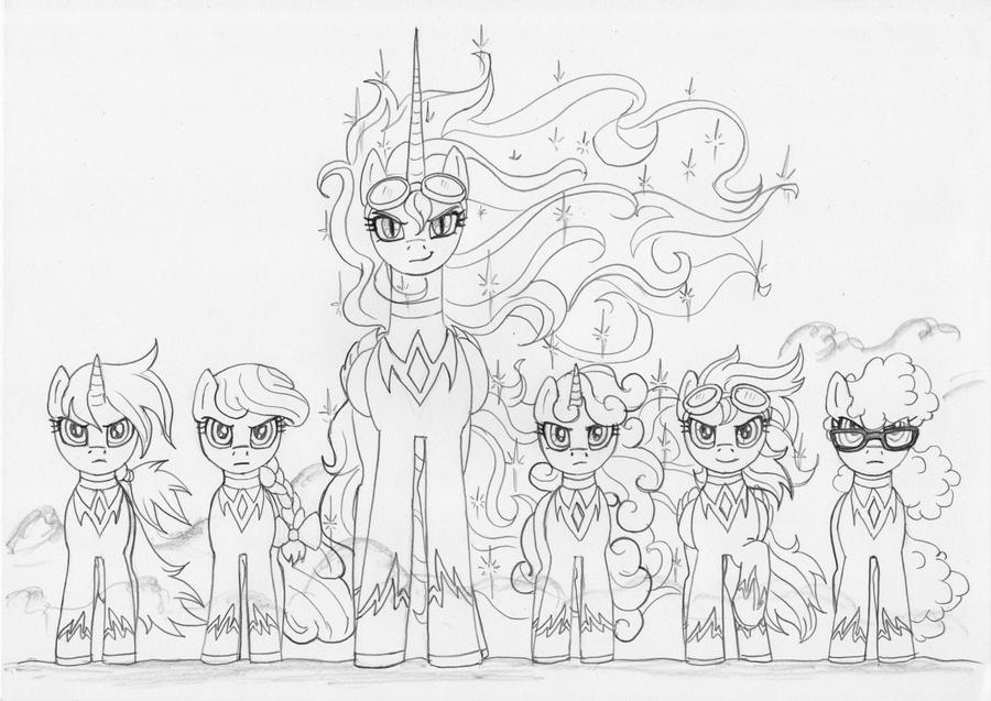 Fan Art Mlp Nightmare Moon Coloring Pages
