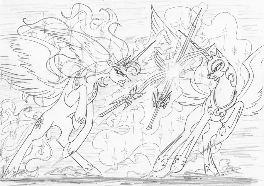 my little pony coloring pages nightmare moon