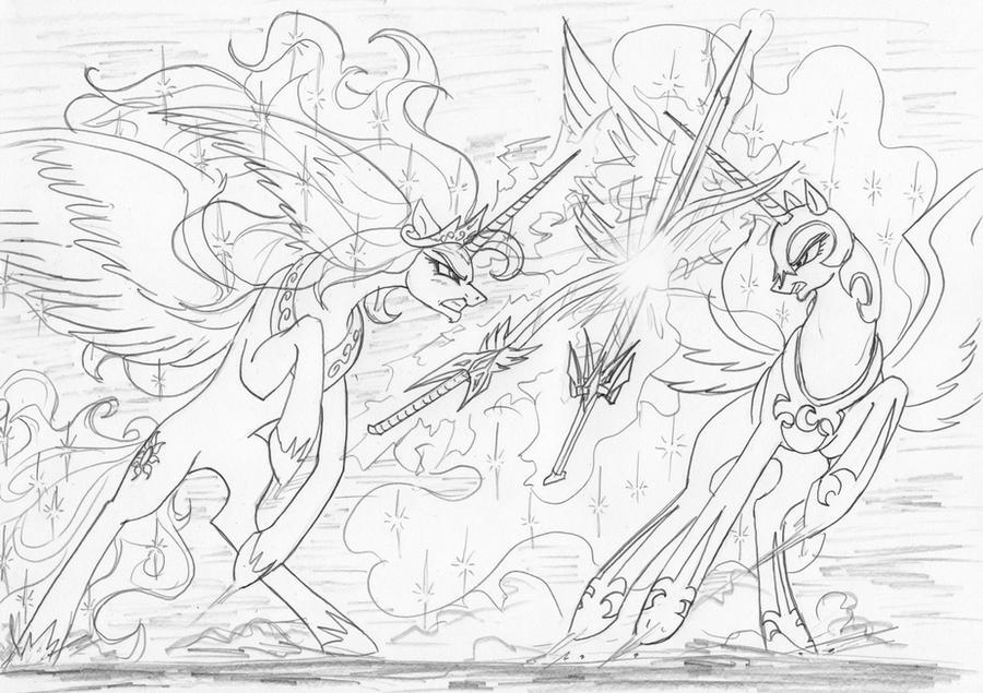Comic Part 4 NYX Vs NIGHTMARE MOON By Leovictor