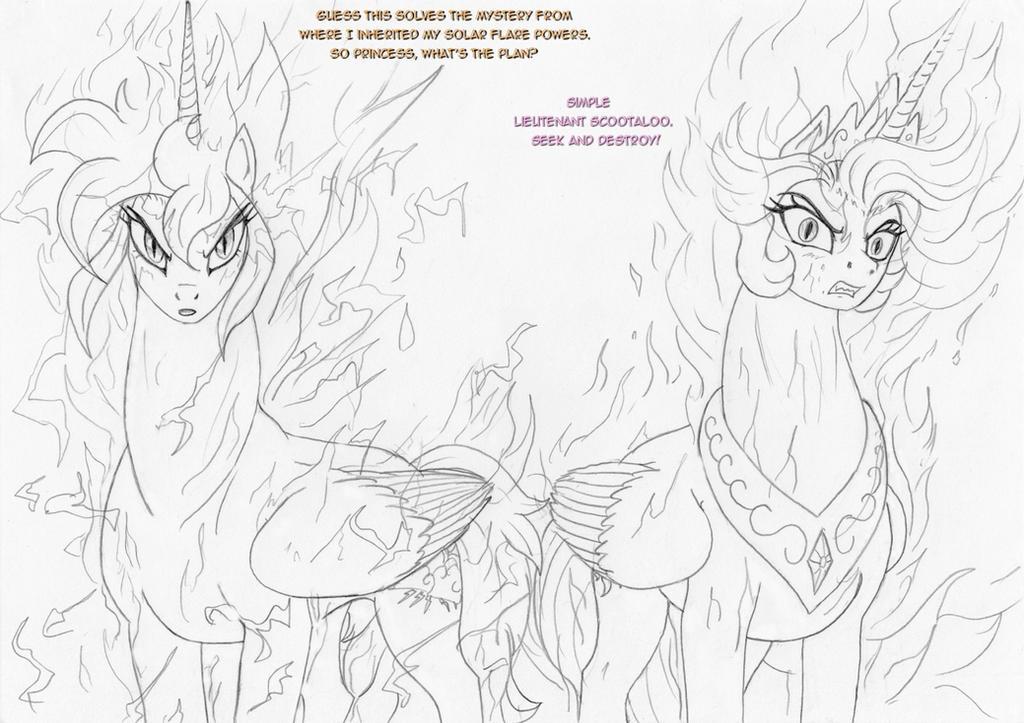 Solar alicorns by leovictor