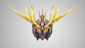 Gundam Banshee Low Poly Art