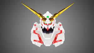 Unicorn Gundam Low Poly Art