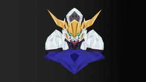 Gundam Barbatos Low Poly Art