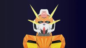 Gundam Arios Low Poly Art