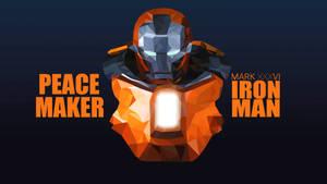 Ironman Peace Maker Low Poly Art