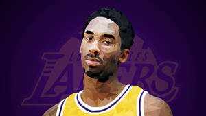 Vintage Kobe Bryant Low Poly Art