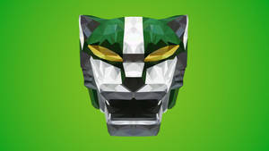 Green Lion Low Poly Art (Midori Jishi)