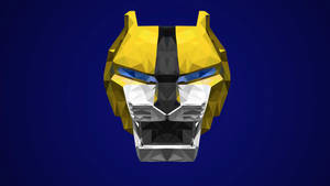 Yellow Lion Low Poly Art (Ki Jishi)
