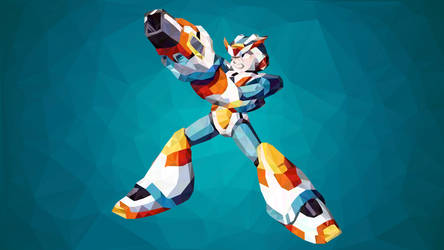 Megaman X3 Armor Low Poly Art by giftmones