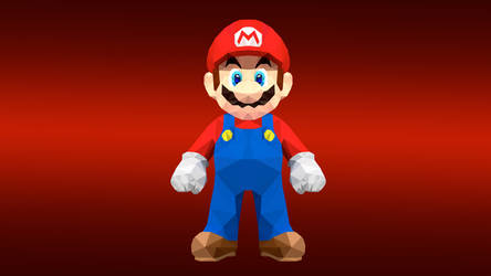 Super Mario Low Poly Art