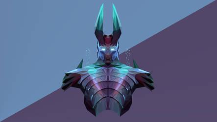 Terrorblade Dota 2 Low Poly Art