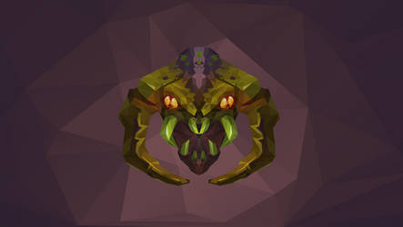 Venomancer Dota 2 Low Poly Art by giftmones