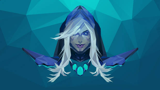 Drow Ranger Dota 2 Low Poly Art