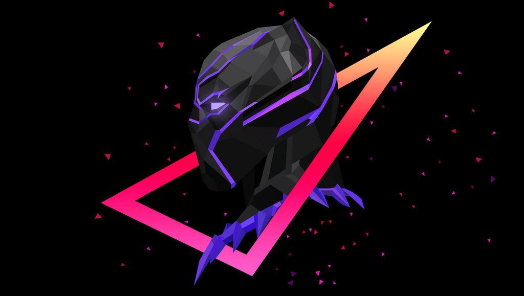 Low Poly Art - Black Panther