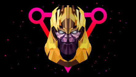 Low Poly Art - Thanos by giftmones